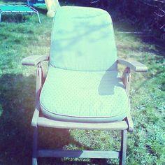 Sunbathing in the garden Summer 2014, Chair, Garden, Instagram Posts, Fun, Bucket, Furniture, Board, Home Decor