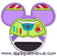 Buzz Lightyear Mouse Ears, Applique Avenue Embroidery Designs