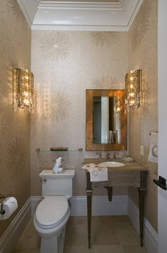 Hollywood Regency Bathroom Design, Pictures, Remodel, Decor and Ideas