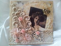 lacecard Shabby Chic Cards, Beautiful Handmade Cards, Shabby Vintage, Cute Cards, Creative Cards, Vintage Cards, Paper Goods, I Card, Cardmaking