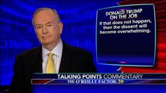 In his Talking Points Memo tonight, Bill O'Reilly said there's an effort on the far left to oppose President Donald Trump and get him out of office.