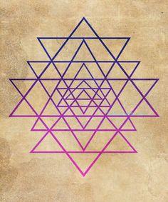 Mount Meru ~ Sri Yantra Center of Universe Sacred Geometry Symbols, Spiritual Symbols, Sacred Geometry Triangle, Sacred Geometry Tattoo, Magic Symbols, Sri Yantra Tattoo, Shri Yantra, Sacred Feminine, Flower Of Life