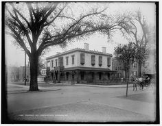 The Green-Meldrim House in Savannah, #Georgia in the 1900's. This building served as the headquarters of William Tecumseh Sherman during the Civil War.