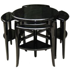 Rare French Art Deco Nest of Tables | From a unique collection of antique and modern nesting tables and stacking tables at https://www.1stdibs.com/furniture/tables/nesting-tables-stacking-tables/