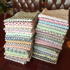 #刺し子#花ふきん#手づくり#手作り#手芸#ハンドメイド#handmade #sashiko Sashiko Embroidery, Cross Stitch Embroidery, Embroidery Patterns, Hand Embroidery, Stitch Patterns, Textiles, Kantha Stitch, Running Stitch, Couture