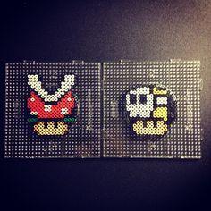 Nintendo mushrooms perler beads by sajagee
