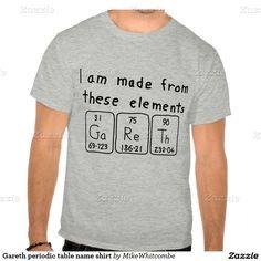 Gareth periodic table name shirt