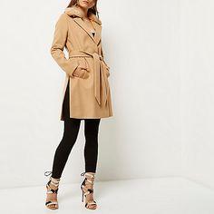 Tan belted robe coat - coats - coats / jackets - women