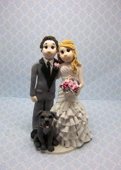 Reserved Bride and Groom Wedding Cake by lynnslittlecreations, $70.00