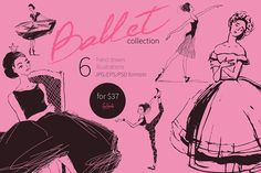 Ballet hand drawn vector collection. by alisssanerd on @creativemarket