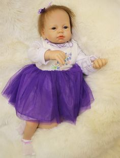 92.71$  Watch now - http://alisng.worldwells.pw/go.php?t=32757631241 - 22 Inches 55CM Lovely Silicone Reborn Baby Dolls Realistic Hobbies Handmade Baby Alive Doll For Girls Safe Brinquedos Juguetes 92.71$