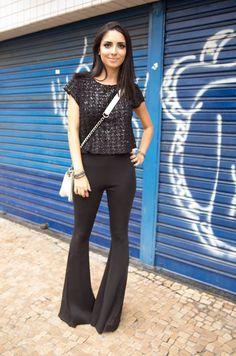 looks com calça all black - Pesquisa Google