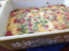 This wonderful casserole is the best breakfast casserole I have ever eaten.  It could easily be served at any time of day.  I first ate it at a Wedding Shower and could hardly wait for the brides mother to get the recipe for me from the Aunt who lived in another state.  I am posting the recipe exactly as I received it...however I would personally increase the salt to 1 teaspoon instead of the 1/4th teaspoon since I remember adding salt when I ate it before.