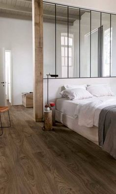 Quick-step Natural Luxury vinyl flooring tile - B&Q for all your home and garden supplies and advice on all the latest DIY trends Home Interior Design, Interior Architecture, Floor Design, House Design, Luxury Vinyl Flooring, Wood Flooring, Bedroom Flooring, Home Decor Bedroom, Home And Living