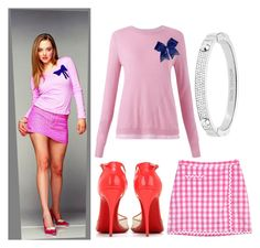 """""""Karen Smith // Mean Girls"""" by maddog22 ❤ liked on Polyvore featuring Lilly Pulitzer, Jigsaw, Chassè, Christian Louboutin and Michael Kors"""