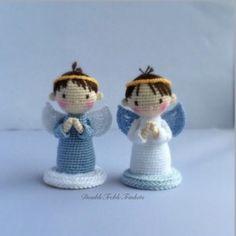 #crochet, free pattern, amigurumi, X-mas, Christmas, angel, decoration, #haken, gratis patroon (Engels), engel, Kerstmis, #haakpatroon