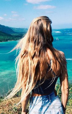 Long hair in the wind.