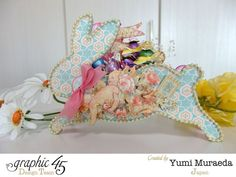 G45 Baby 2 Bride Easter Bunny Wagon and Mini Album by Yumi #graphic45
