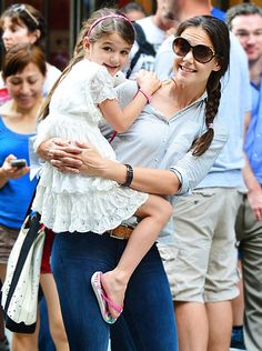 Katie Holmes and Suri Cruise visit Museum of Modern Art on August 6, 2012 in New York City.