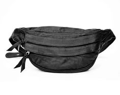 Leather Fanny Pack in Grey Sand Soft Lamb Skin _Anabelle_.