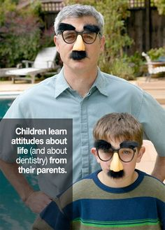 Parents, remember children learn from your example! Make good oral care a priority! :)