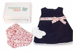 Black is not a colour most mums would dress their baby girl in, but this teamed with the frilly pink knickers and matching waistband with frill socks is just plain cute... Just one of the baby girl subscription boxes we've sent out to our subscribers at Trendy Baby Box