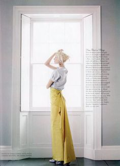 This photo creates in me, new respect for long skirts and the color yellow.