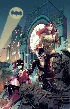 Harley Quinn, Poison Ivy and Cat woman