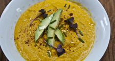 Chilled carrot & avocado soup #summer #soup #recipe
