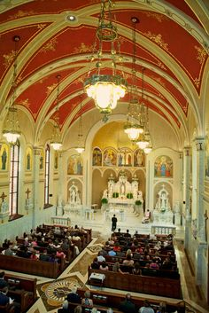 Sacred Heart Catholic Church, Peoria IL- I love this view! & and its a beautiful looking church as well!