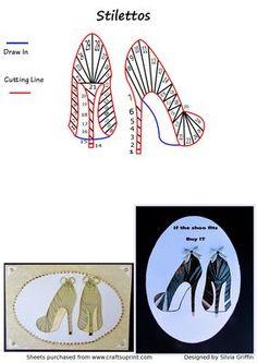 Fashion / Iris Folding Patterns / Card Making Iris Folding Templates, Iris Paper Folding, Iris Folding Pattern, Origami Folding, Card Templates, Paper Cards, Folded Cards, Card Patterns, Quilt Patterns