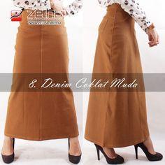 defe5f1afc9489 Jual Zetha Rok Panjang Wanita Jeans Denim Coklat Muda Cutting A-Line size  S-M-L-XL Original by Zetha di lapak Zetha Clothing Store