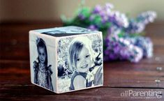 DIY Photo Block Gift Idea and more Homemade Mother's Day Ideas on Frugal Coupon Living.
