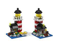 mini lighthouse by LegoDaystar Lego Minecraft, Lego Mini, Instructions Lego, Micro Lego, Lego Club, Lego Boards, Lego Craft, Lego Modular, Lego Storage
