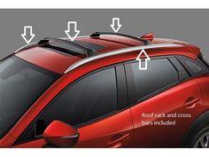 Mazda CX-3 Roof Rack and Crossbars 00008LS01 00008LS02