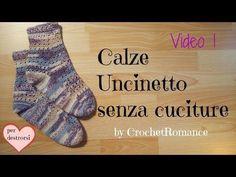 Come fare calze all'uncinetto Video 1 - versione per destrorsi Taglia 37, 38-40, 41-43 - YouTube