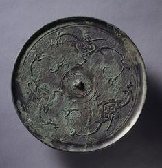 Mirror with Three Dragons | Cleveland Museum of Art Bronze Mirror, Bronze Age, Ancient China, Ancient Art, Concave, Zhou Dynasty, Warring States Period, Cradle Of Civilization, Cleveland Museum Of Art