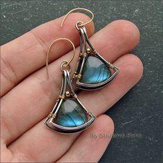 Strukova Elena - the author's jewelry - earrings again Labradors))