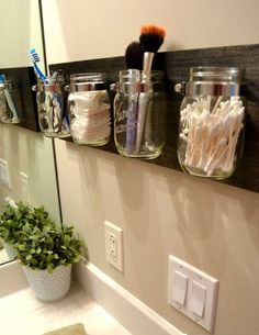 clever idea for a bathroom that is limited on counter space