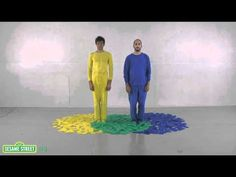 """AWESOME """"Three Primary Colors"""" color mixing video collaboration between OK Go and Sesame Street.  Definitely showing this in my art room (over and over!!)"""