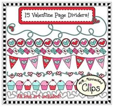 valentine page dividers