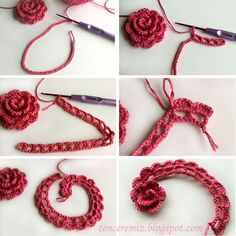 How to knit flowers crochet-work