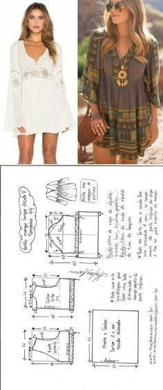 Amazing Sewing Patterns Clone Your Clothes Ideas. Enchanting Sewing Patterns Clone Your Clothes Ideas. Fashion Sewing, Diy Fashion, Ideias Fashion, Dress Sewing Patterns, Clothing Patterns, Robe Diy, Costura Fashion, Sewing Blouses, Diy Dress