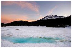Sunrise at Reflection Lake.