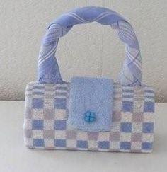 Tasje van handdoek -- een leuk knutselwerkje