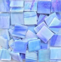 Mosaic Tile Mania - The world's largest selection of hand cut, stained glass mosaic tiles & mosaic supplies. Periwinkle Bedroom, Periwinkle Blue, Shades Of Purple, Aqua, Lavender Aesthetic, Purple Aesthetic, Mosaic Supplies, Knitting Blogs, Mosaic Crafts