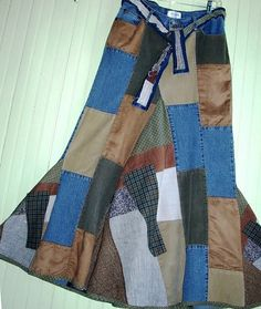 jeans to skirt LOVE this patchwork!!