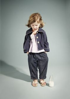 ce5f4213d73f Hucklebones - classic tailoring with a quirk for kids fashion this summer.  Little Girl Fashion