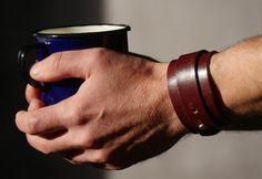 Vintage Blue Enamel Coffee Mug  Mid Century by LArriereBoutique