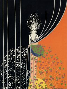 Erte: Romain de Tertoff (1892-1990) French fashion illustrator and designer, born in Russia, noted for his extravagant costumes and tableaux for the Folies-Bergère in Paris